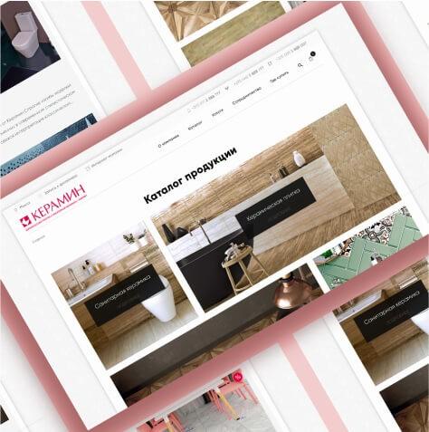 Разработка сайта для Keramin
